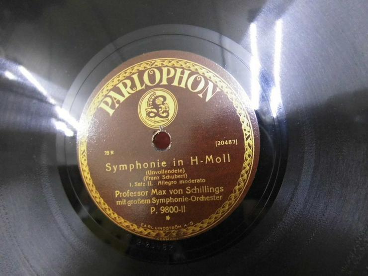 Bild 3: Alte Parlophon Schellackplatte, Symphonie in H