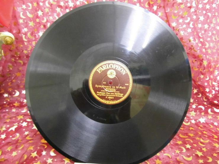 Alte Schellackplatte Parlophon, Symphonie in H - LPs & Schallplatten - Bild 1