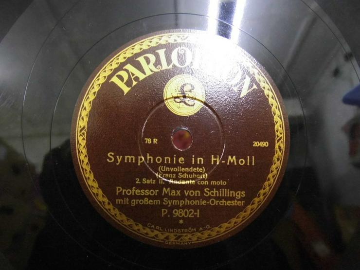 Bild 2: Alte Schellackplatte Parlophon, Symphonie in H