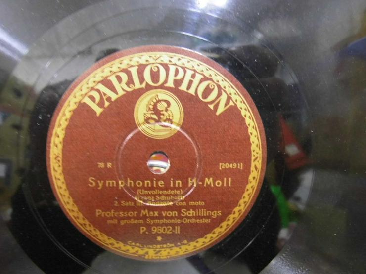 Bild 3: Alte Schellackplatte Parlophon, Symphonie in H