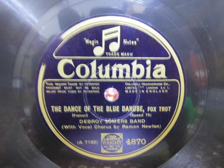 Bild 2: Alte Schellackplatte Columbia, Debroy Somers B