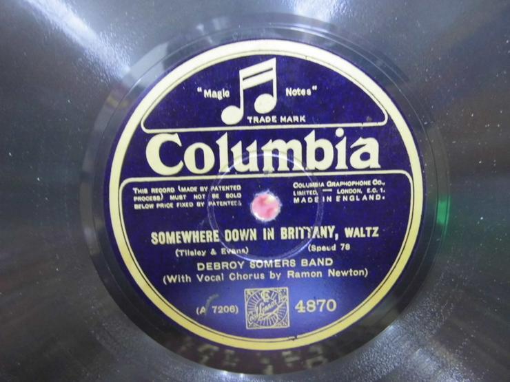 Bild 3: Alte Schellackplatte Columbia, Debroy Somers B