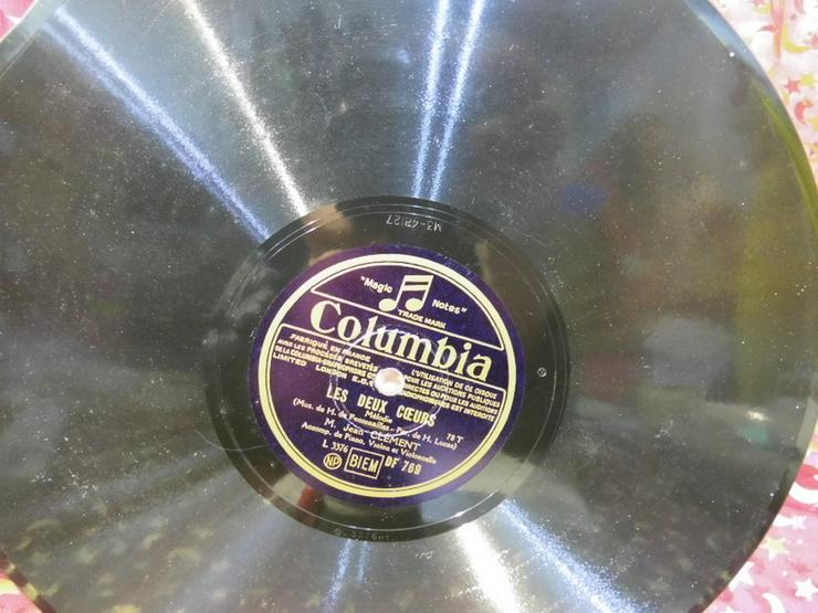 Bild 2: Alte Columbia France Schellackplatte, M. Jean