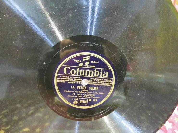 Bild 3: Alte Columbia France Schellackplatte, M. Jean