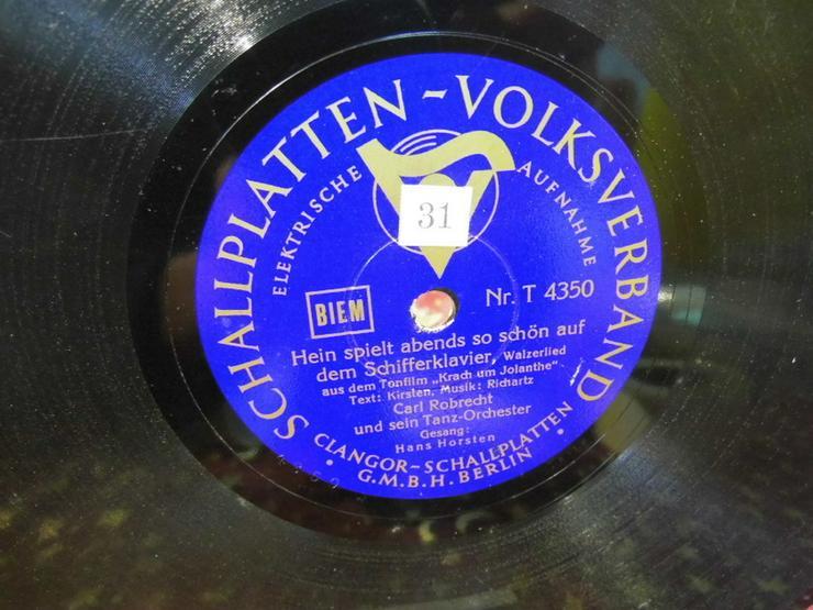 Bild 2: Alte Volksverband Schellackplatte, Carl Robrec