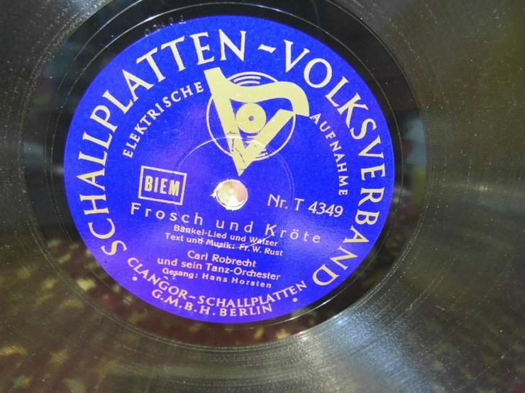 Bild 3: Alte Volksverband Schellackplatte, Carl Robrec