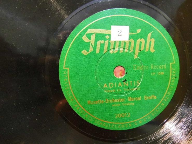 Bild 2: Triumph Schellackplatte, Musette-Orchester Mar