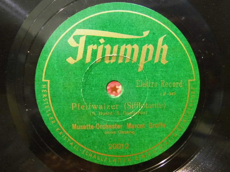 Bild 3: Triumph Schellackplatte, Musette-Orchester Mar