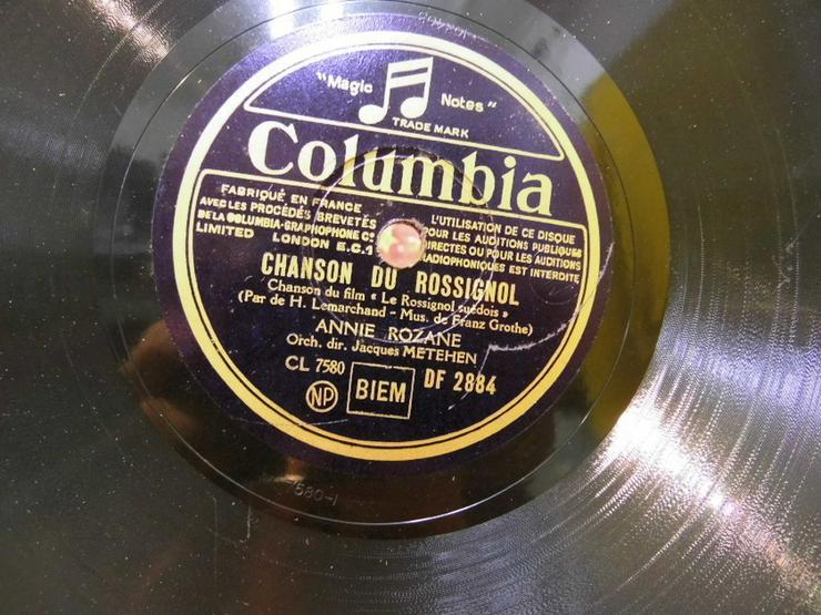 Bild 2: Alte Columbia Schellackplatte, Annie Rozane /