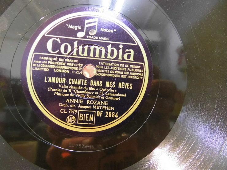 Bild 3: Alte Columbia Schellackplatte, Annie Rozane /