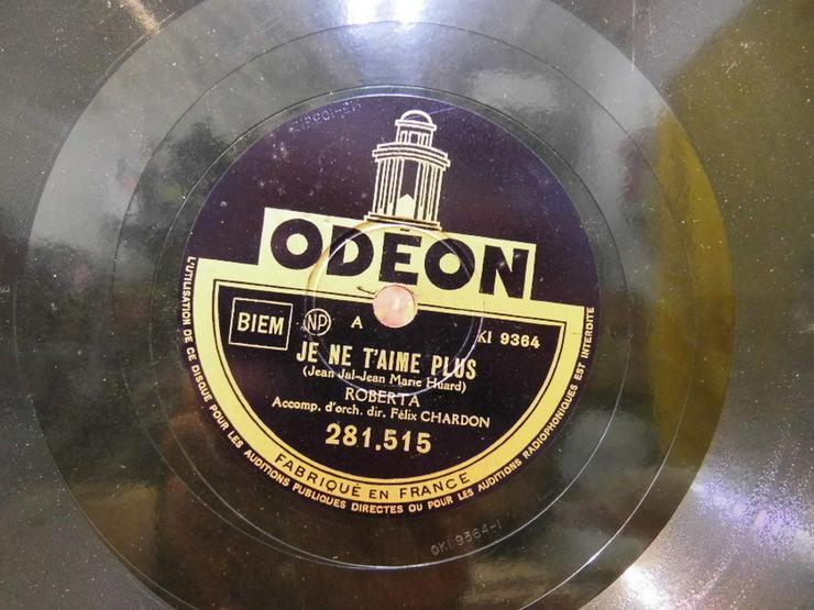 Bild 3: Alte Odeon Schellackplatte, Roberta / Je ne T?