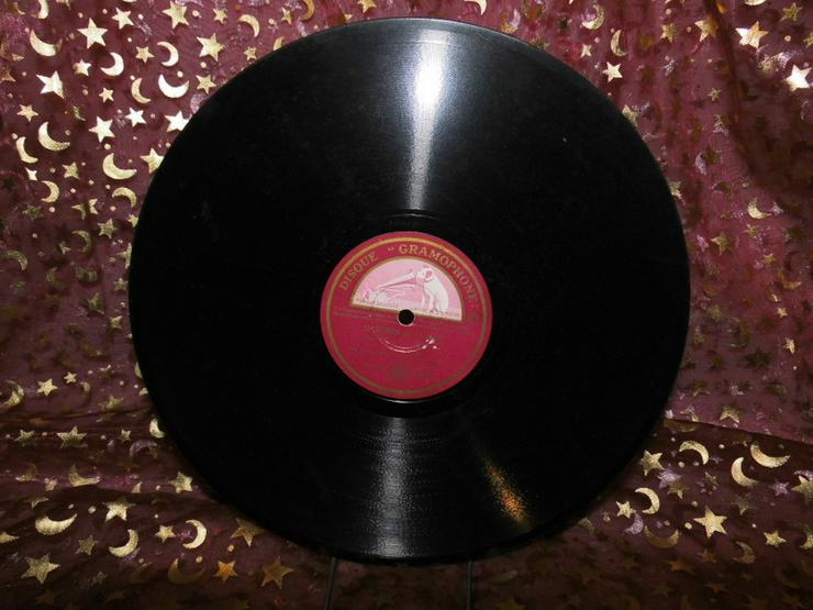 Bild 2: Gramophone Schellackplatte, Leo Marjane / Le r