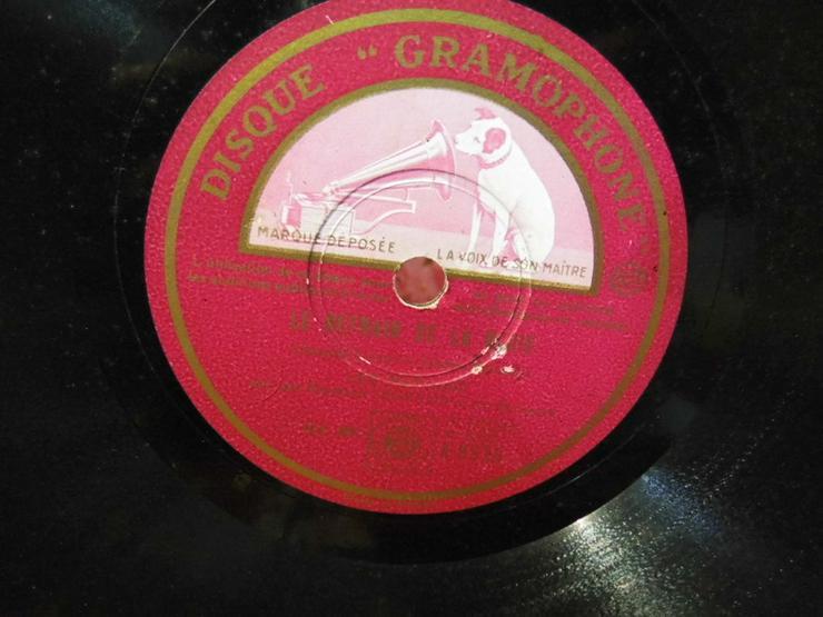 Bild 3: Gramophone Schellackplatte, Leo Marjane / Le r