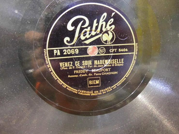 Pathe Schellackplatte, Freddy Beaufort / Venez - LPs & Schallplatten - Bild 1