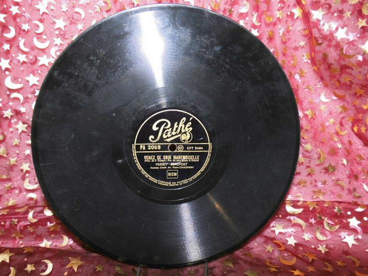 Bild 2: Pathe Schellackplatte, Freddy Beaufort / Venez