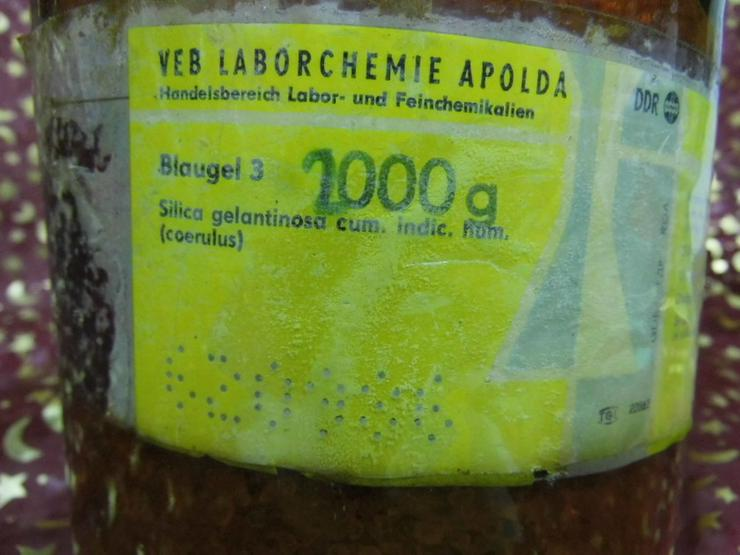 Bild 5: Alte Laborflasche braun / DDR, VEB Laborchemie