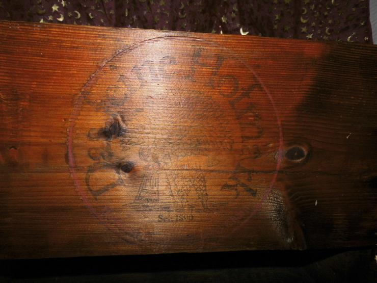 Bild 3: Antike Holz - Bierkiste, Holzkiste, alter Bier