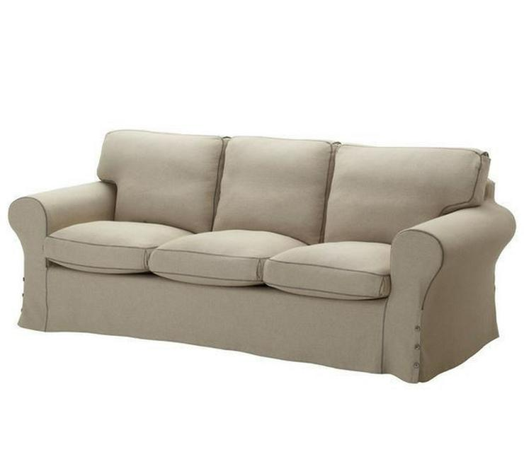 Neuwertiges Ikea Ektorp 3er Sofa, Ektorp Hocker