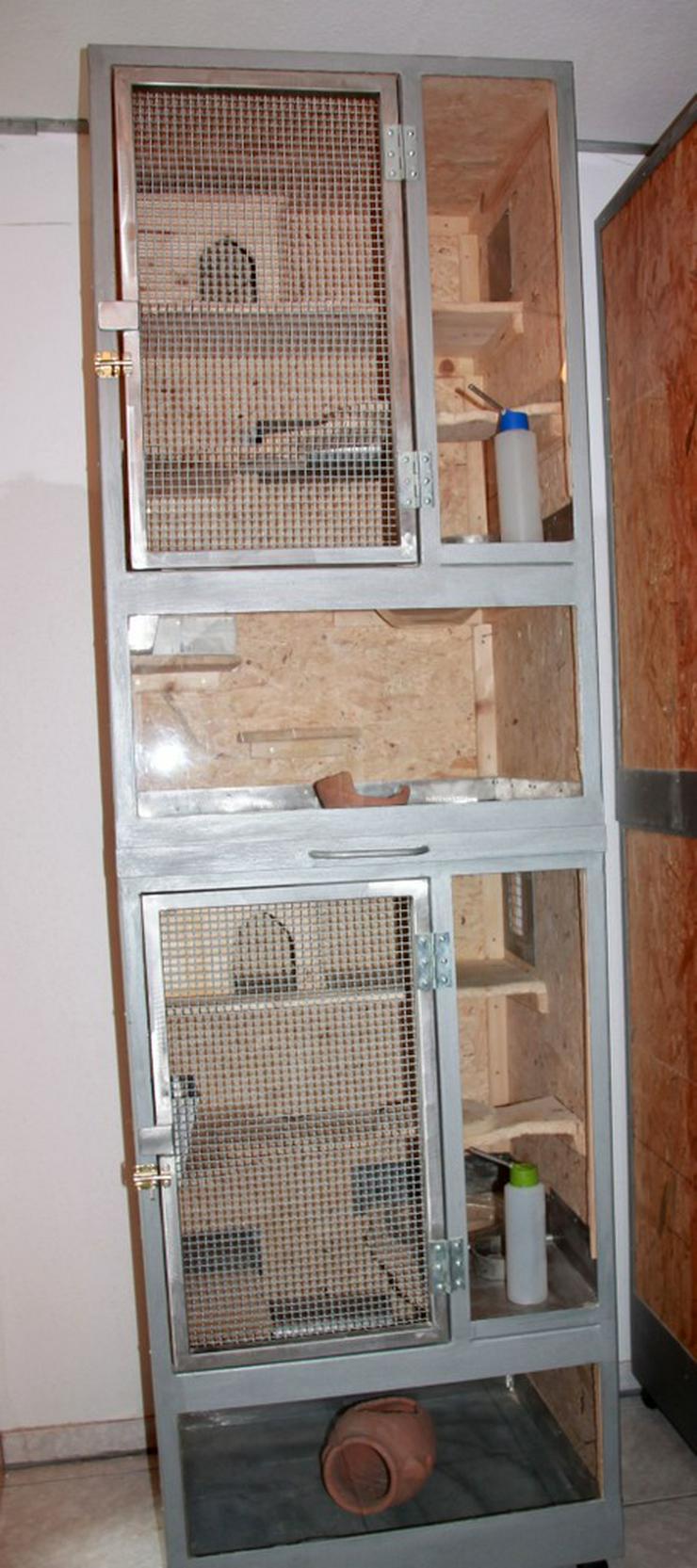 Bild 1: Käfig für Chinchillas - 1 oder 2 Boxen