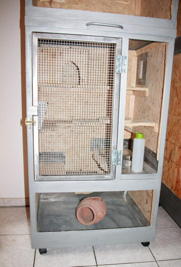 Bild 4: Käfig für Chinchillas - 1 oder 2 Boxen