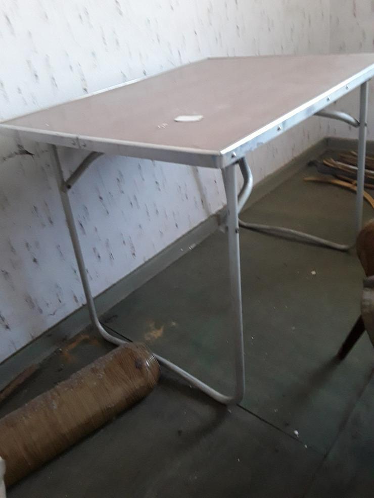 Tisch und Stuhl aus DDR Zeiten - Campingmöbel - Bild 1