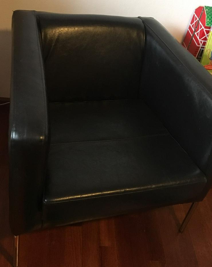 Schwarzen Sessel