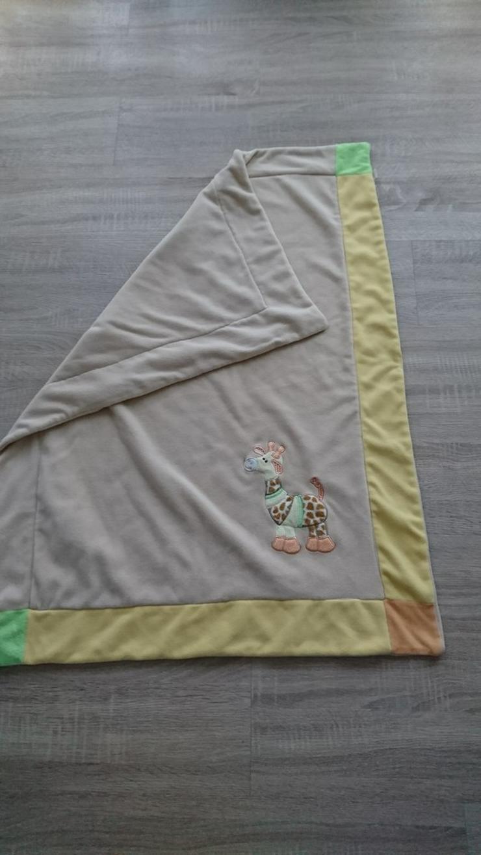 Schmusedecke mit Giraffe Sterntaler  100x75cm - Bettwäsche, Kissen & Decken - Bild 1