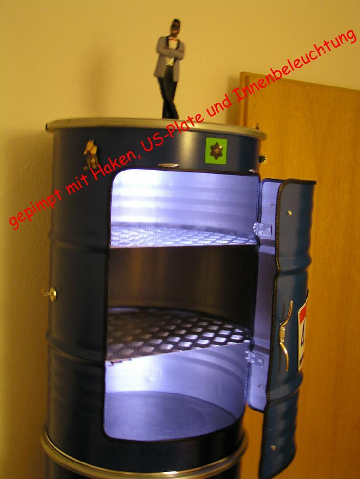 Bild 5: Designer Schrank aus 200 Liter Ölfass Blau us