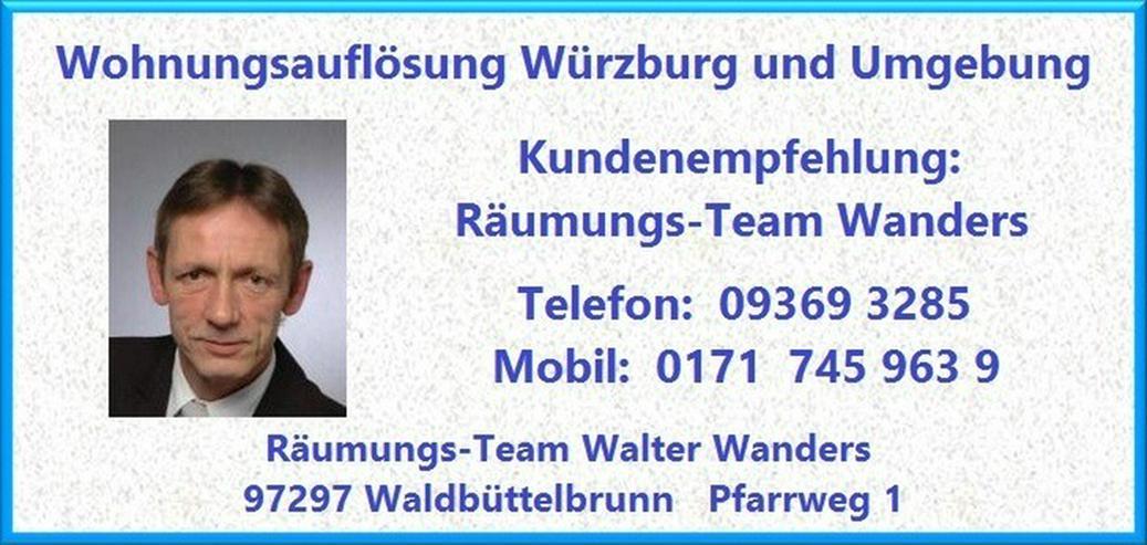 Bild 5: Wohnungsauflösung Würzburg und Umgebung Wanders
