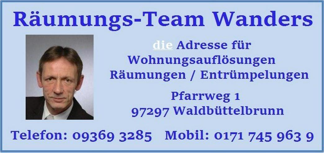 Wohnungsauflösung Würzburg und Umgebung Wanders