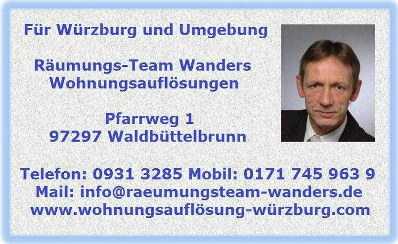 Bild 6: Wohnungsauflösung Würzburg und Umgebung Wanders
