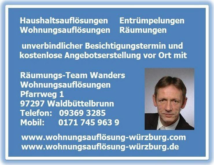 Wohnungsauflösungen Würzburg und Umgebung - Sonstige Dienstleistungen - Bild 1