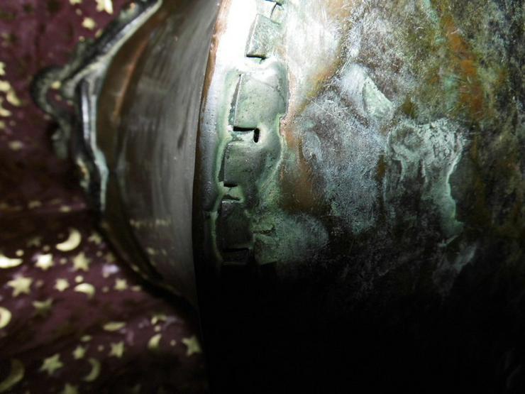Bild 6: Antiker Kupferkessel, Kupfertopf ca.1850 / Dek
