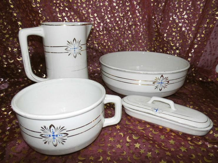 Antikes Waschset 4tlg. / Schönes Keramik Toile