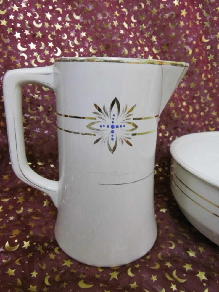 Bild 2: Antikes Waschset 4tlg. / Schönes Keramik Toile