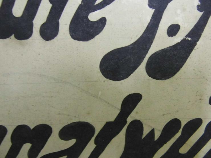 Bild 3: Antikes Werbeschild aus Fleischerei / Heute f.