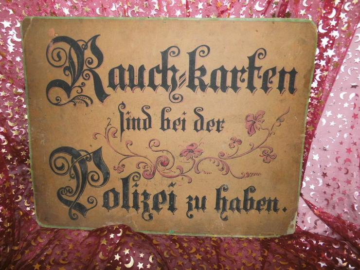 Bild 4: Antikes Werbeschild aus Fleischerei / Heute f.