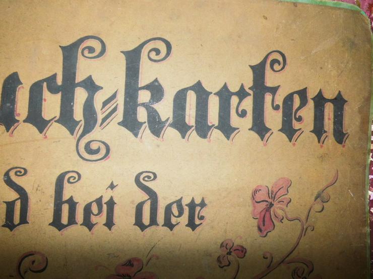 Bild 6: Antikes Werbeschild aus Fleischerei / Heute f.
