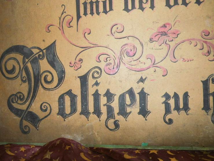 Bild 7: Antikes Werbeschild aus Fleischerei / Heute f.