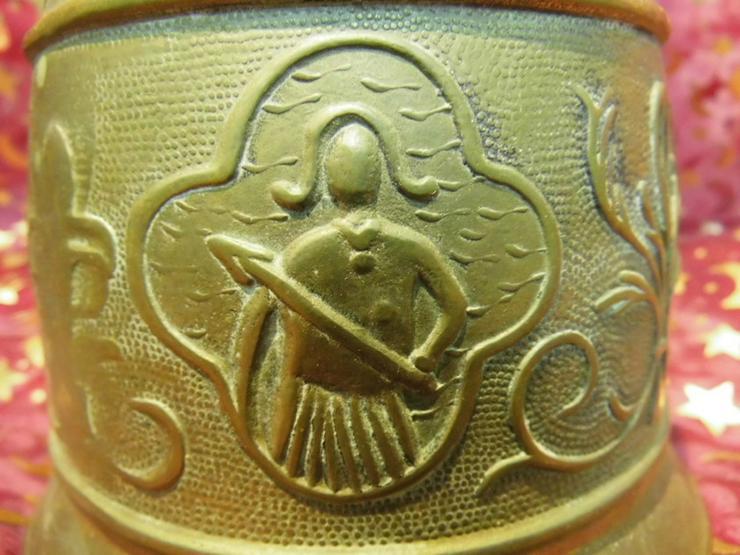 Bild 5: Antike Messing Türglocke mit gewebter Hanfaufh