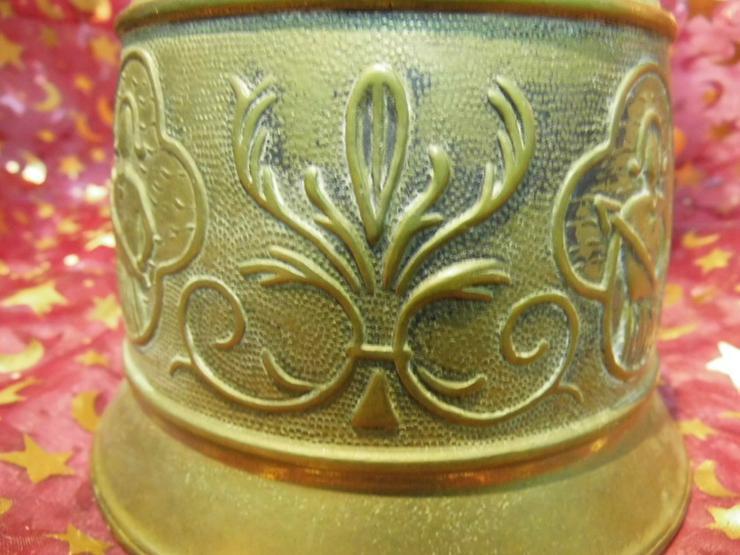 Bild 6: Antike Messing Türglocke mit gewebter Hanfaufh
