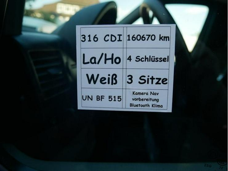 Bild 5: MERCEDES-BENZ Sprinter II Kasten 316 CDI lang hoch Facelift