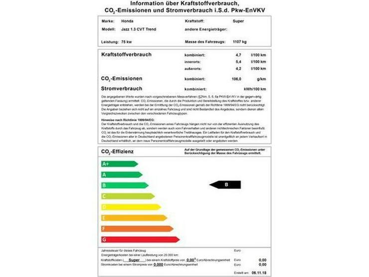 HONDA Jazz 1.3 CVT Trend ,Automatik, Sitzheizung - Jazz - Bild 1