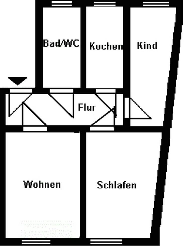 Bild 2: Kleine 3-Raum-Wohnung - zentral gelegen!