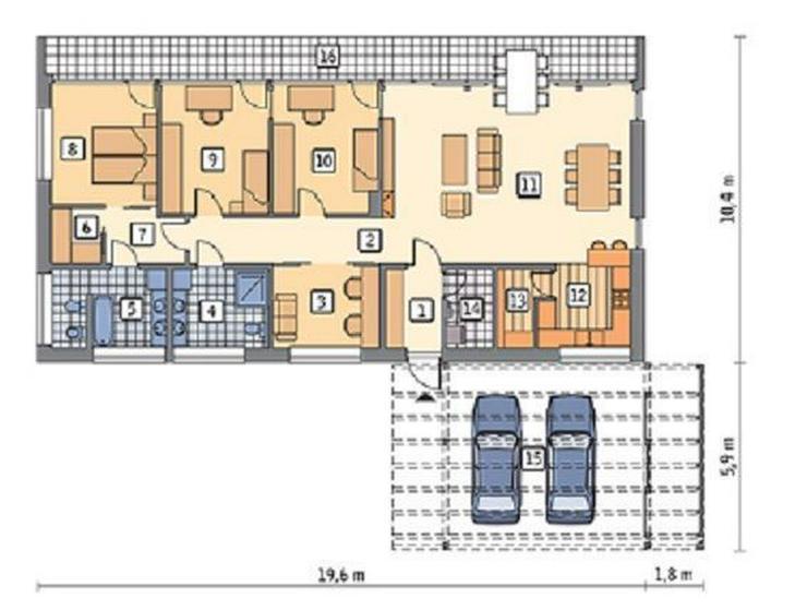 Bild 6: : Wunderschönes 3 SZ Chalet (Neubau/deutsche Qualität/ Ökohaus) in Sa Rapita im Neubaug...