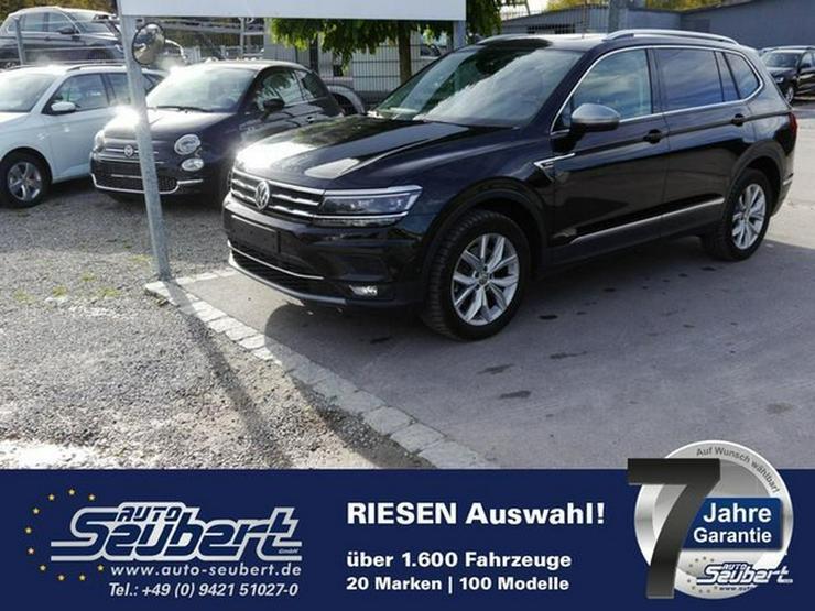 VW Tiguan Allspace 2.0 TDI DPF DSG 4M HIGHLINE * 7-SITZER * LEDER * DCC * AHK * PANORAMA-SD - Tiguan - Bild 1