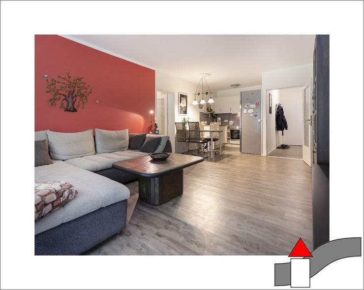 Auf gute Nachbraschaft: Modernisierte Eigentumswohnung mit Sonnenbalkon und Garage