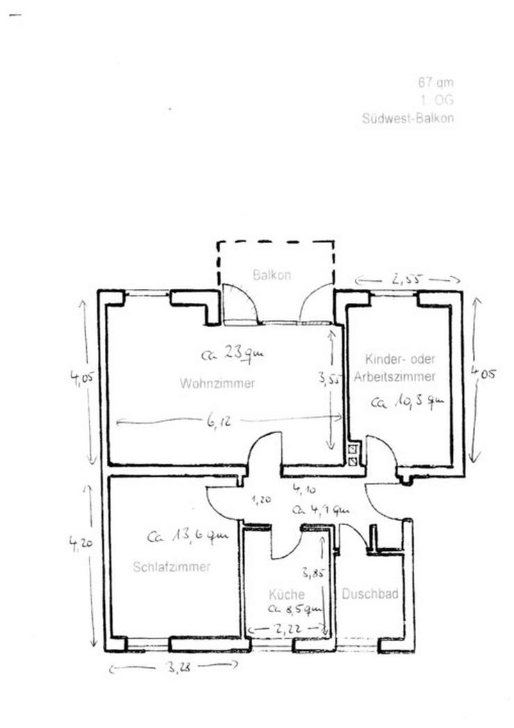 Bild 12: **Eigentumswohnung mit Süd-West Balkon mitten in Kropp**