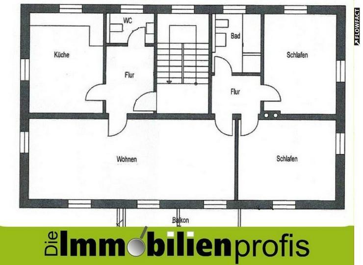 Nähe Park Theresienstein - 3-Zimmer-Mietwohnung mit Gartenanteil und Garage in Hof
