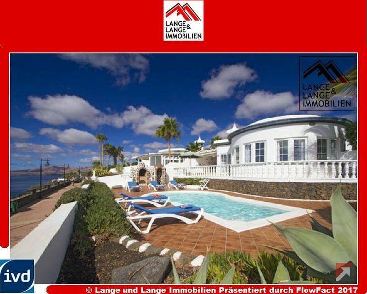 Lanzarote - Puerto del Carmen - 1. Meereslinie - hochwertige Villa - Spanien Immobilien